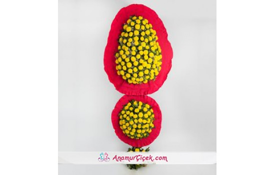 Sarı Cinyalar Ayaklı Sepet